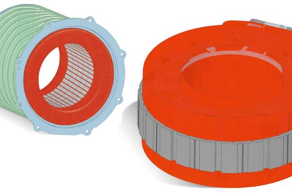 Umspritzen von Magneten mit Duroplast